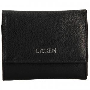 Dámska kožená peňaženka Lagen Lucie - čierna