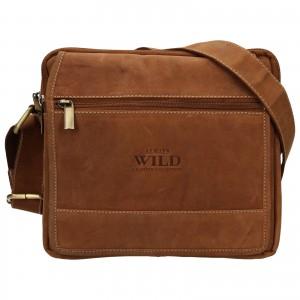 Pánska taška cez rameno Always Wild Daniel - svetlo hnedá