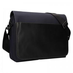 Pánska taška cez rameno Hexagon Davon - čierno-modrá