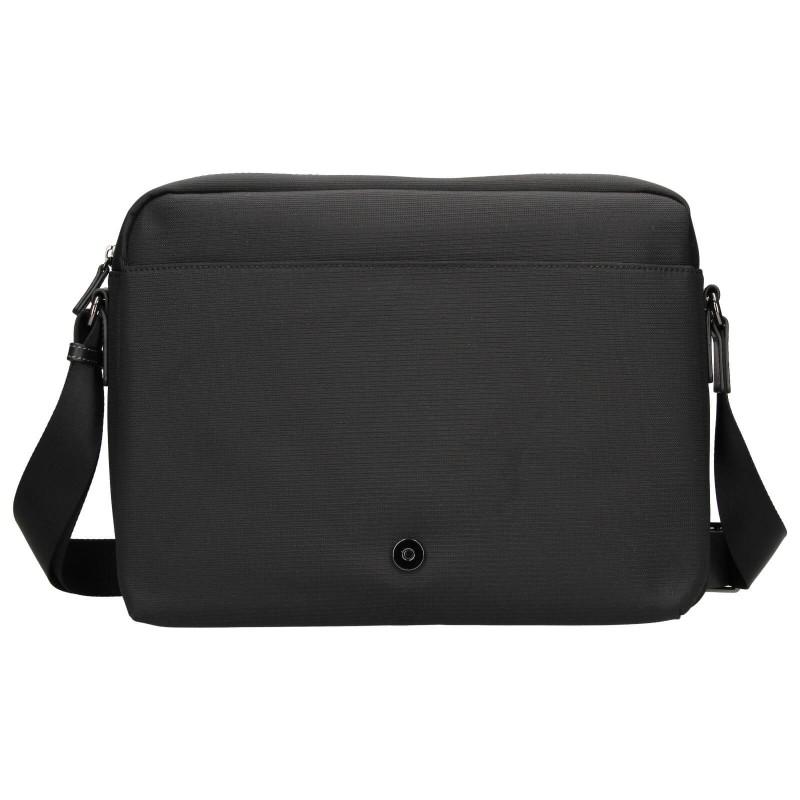 Pánska taška cez rameno Hexagon Davon - čierna