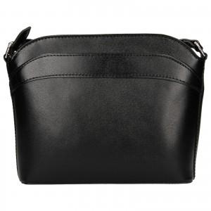 Dámska kožená kabelka Vera Pelle Tinna - čierna