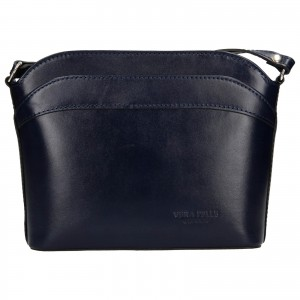 Dámska kožená kabelka Vera Pelle Tinna - modrá