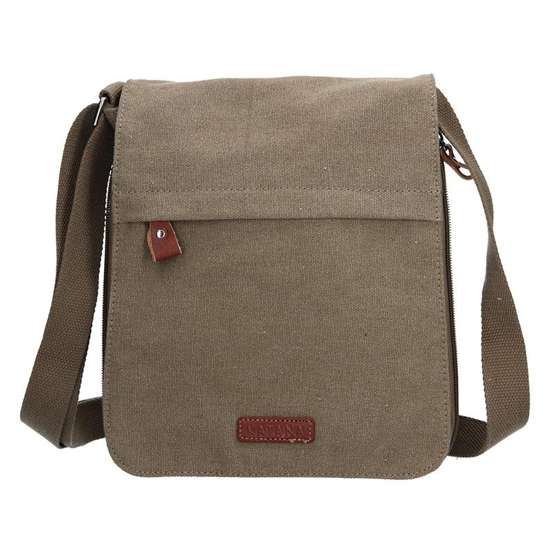 Pánska taška Katana David - zeleno-hnedá
