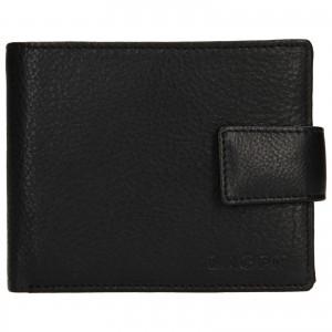 Pánska kožená peňaženka Lagen Kanno - čierna