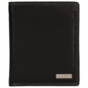 Pánska kožená peňaženka Lagen Olsenn - čierna