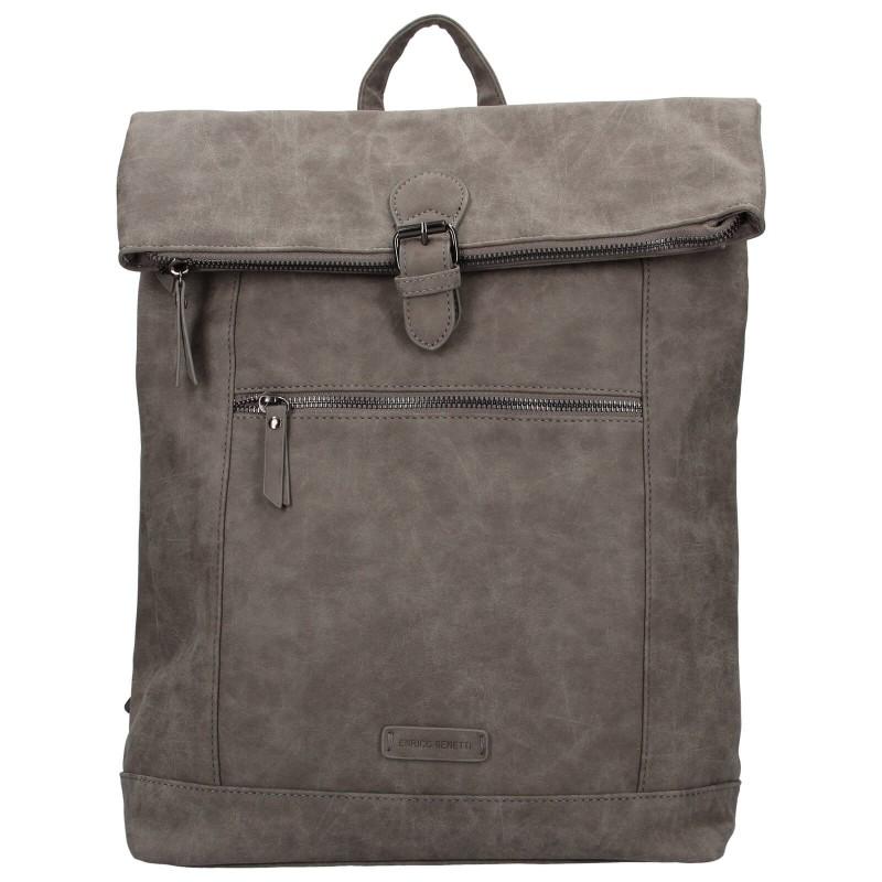Moderný dámsky batoh Enrico Benetti Badea - šedá