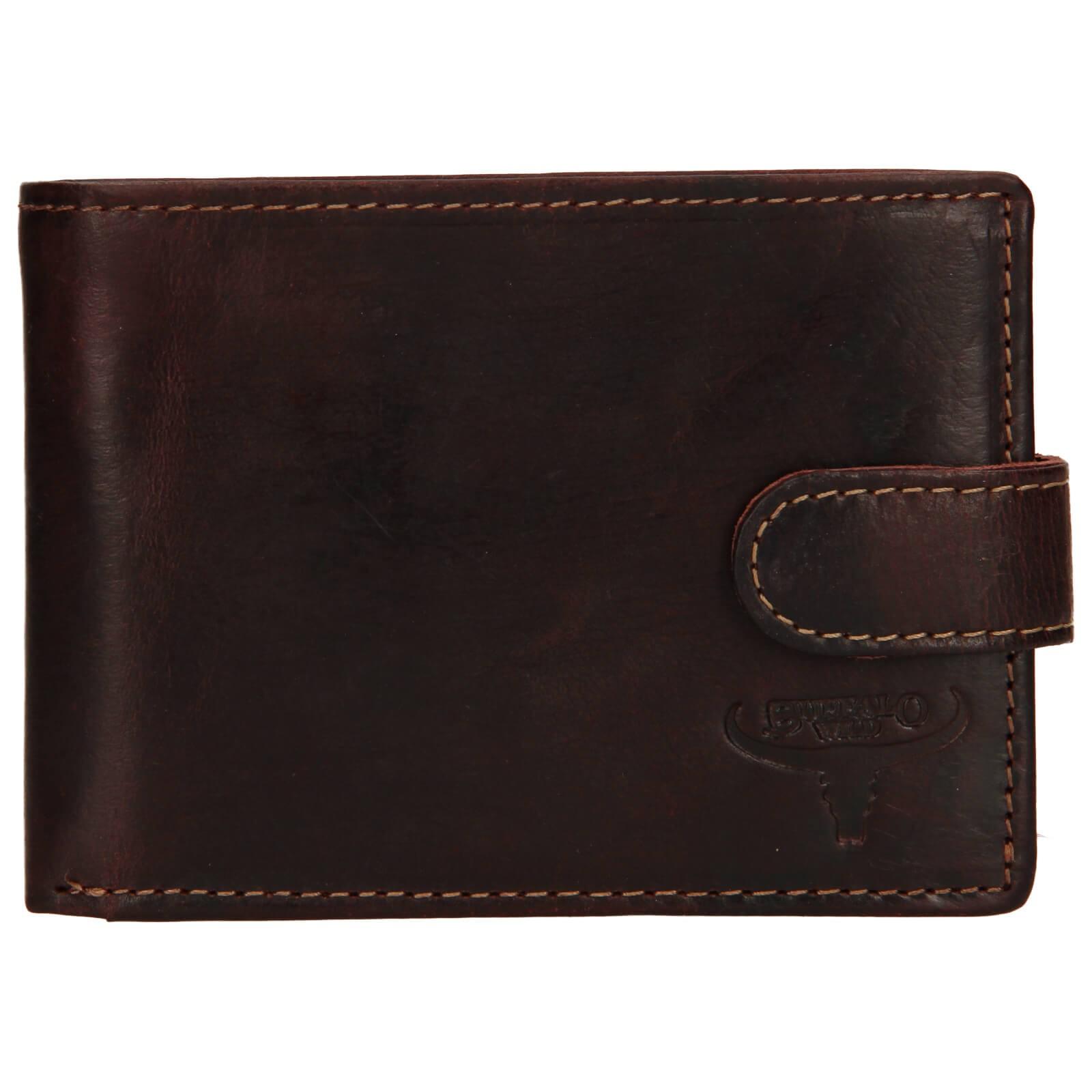 Pánska kožená peňaženka Wild Buffalo Marcel - hnedá