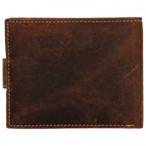 Pánska kožená peňaženka Wild Buffalo Tommy - hnedá