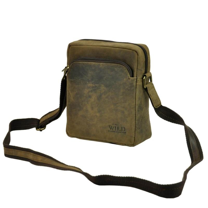 Pánská taška přes rameno Always Wild Gregor - hnedá