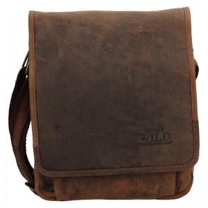 Pánská taška přes rameno Always Wild Fabios - hnedá