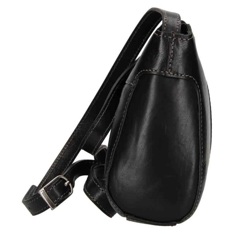 Kožená dámska crosbody kabelka Katana Mauric - čierna