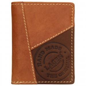 Pánska kožená peňaženka Lagen Thore - hnedá
