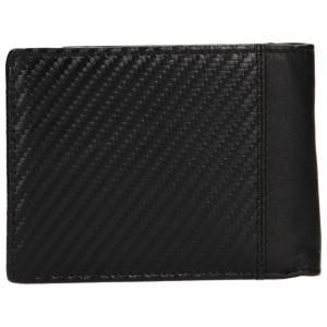 Pánska kožená peňaženka Bugatti Trevis - čierna