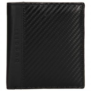Pánska kožená peňaženka Bugatti Leonis - čierna