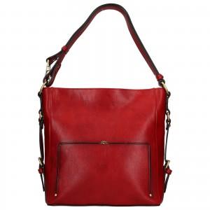 Elegantná dámska kožená kabelka Katana Darina - červená