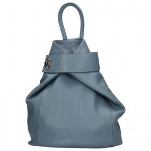 Dámsky kožený batoh Delami Miriam - modrá