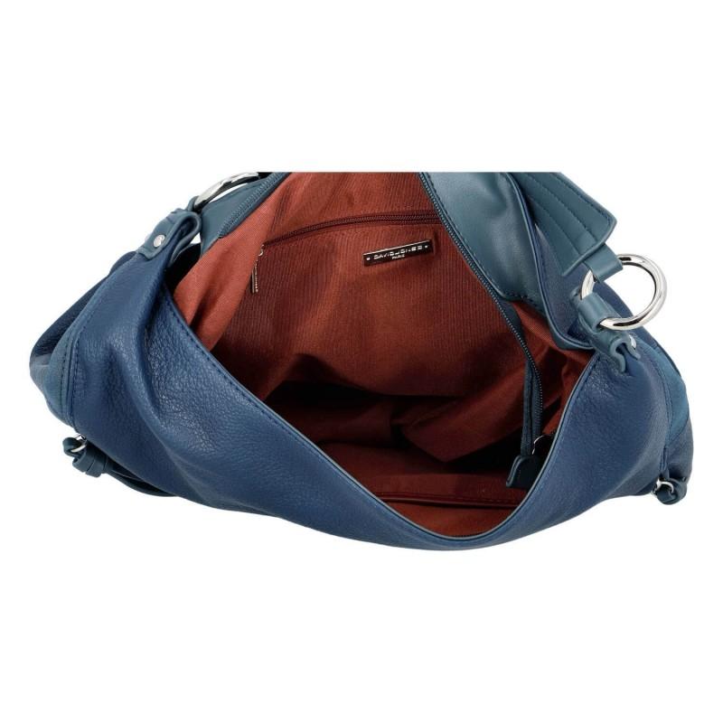 Dámska kabelka David Jones Karlen - modrá