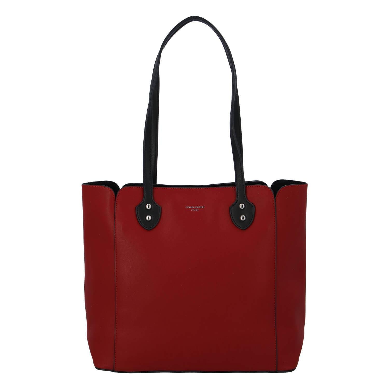 Dámska kabelka David Jones Helga - červená