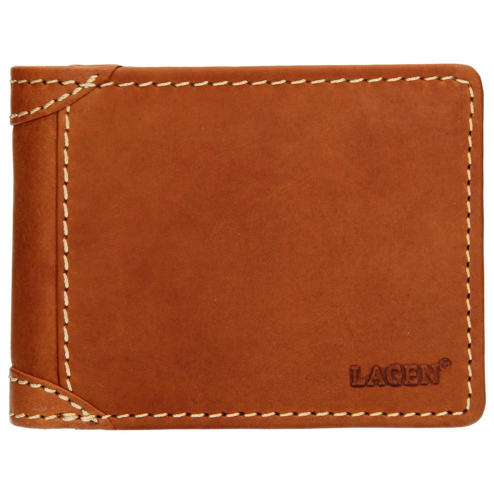 Pánska kožená peňaženka Lagen Peter - koňak