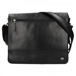 Pánska kožená taška Daag Peter - čierna