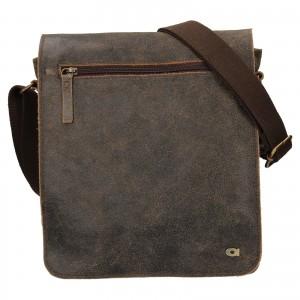 Pánska kožená taška Daag Joel - svetlo hnedá