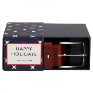 Darčekové balenie koženého opasku Tommy Hilfiger Vilmond - hnedá