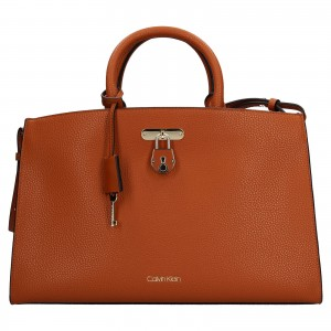 Dámska kabelka Calvin Klein Matelda - koňak