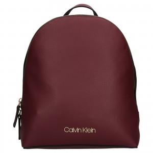 Dámský batoh Calvin Klein Valoa - vínová
