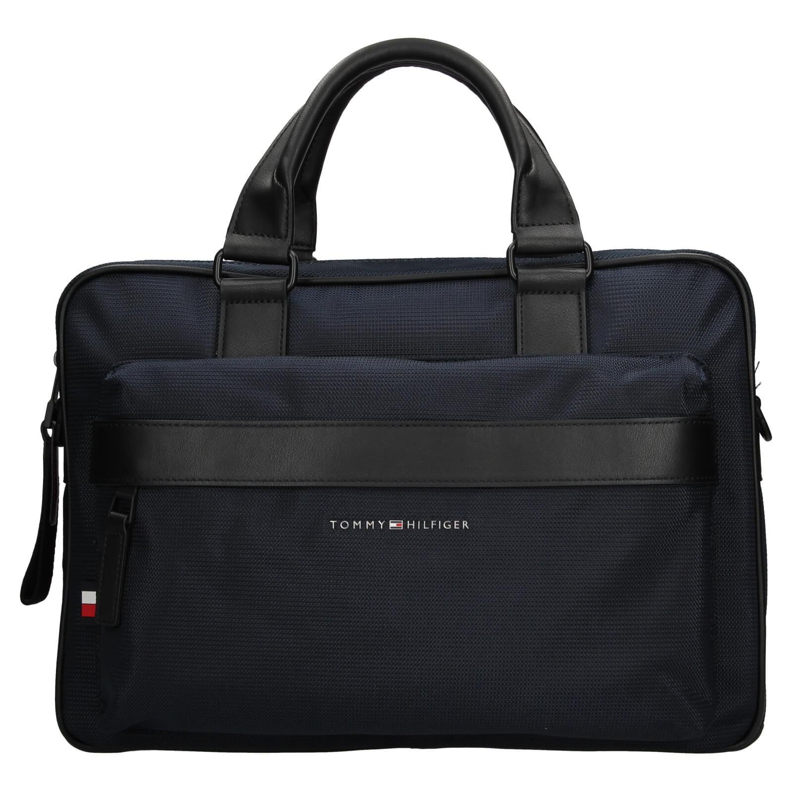 Pánska taška na notebook Tommy Hilfiger Naden - modrá