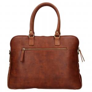 Unisex kožená taška na notebook Facebag Kalisto - koňak