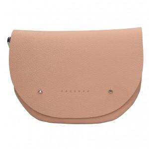 Trendy dámska kožená ľadvinka Facebag Alena - ružová