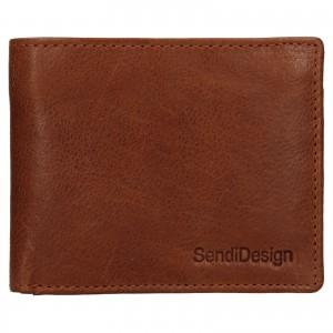 Pánska kožená peňaženka SendiDesign Igor - koňak
