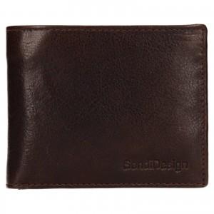 Pánska kožená peňaženka SendiDesign Igor - hnedá