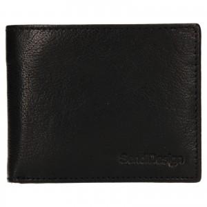 Pánska kožená peňaženka SendiDesign Igor - čierna