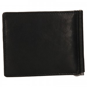 Pánska kožená dolarovka SendiDesign Mauer - čierna