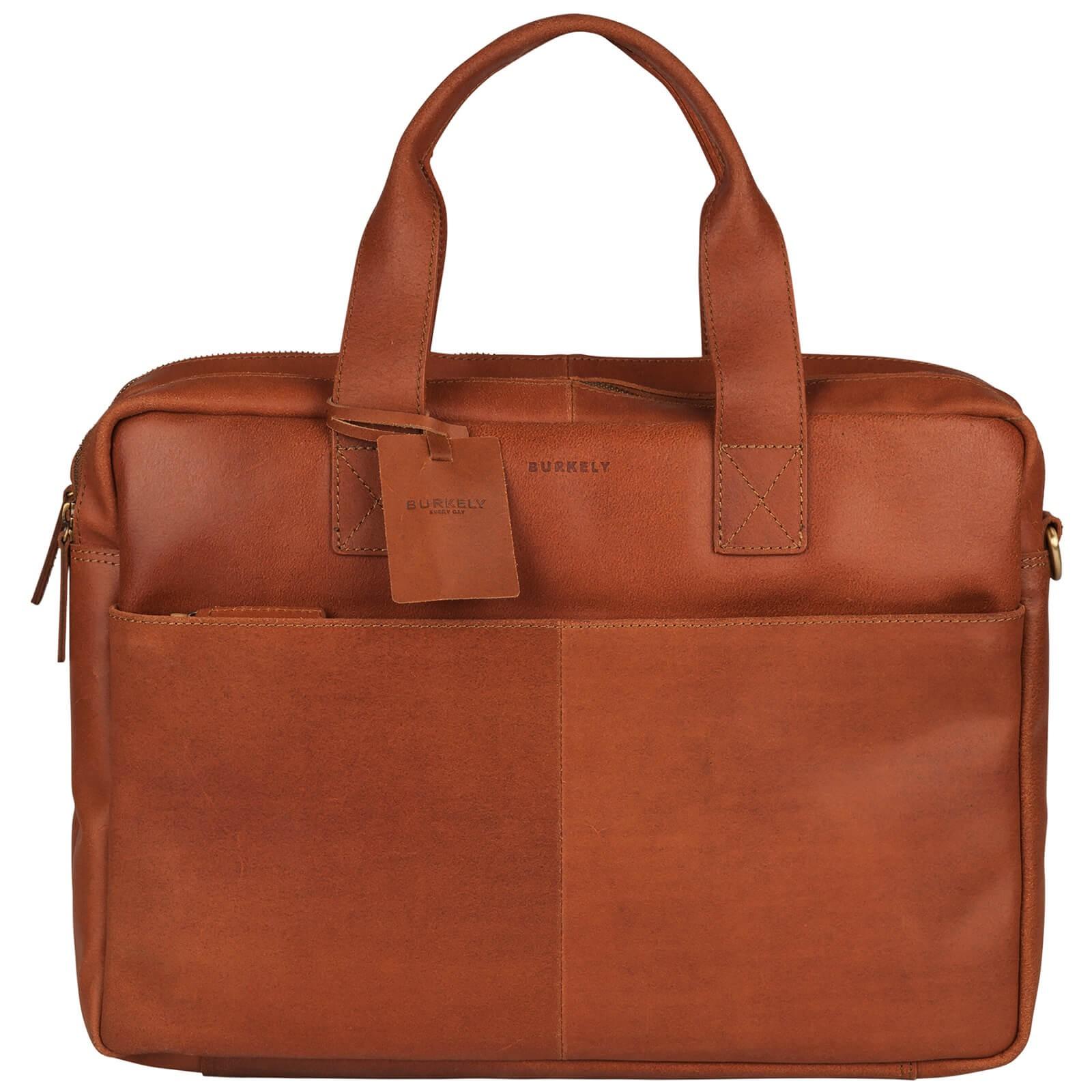 Pánska kožená taška na notebook Burkely Jesse - koňak