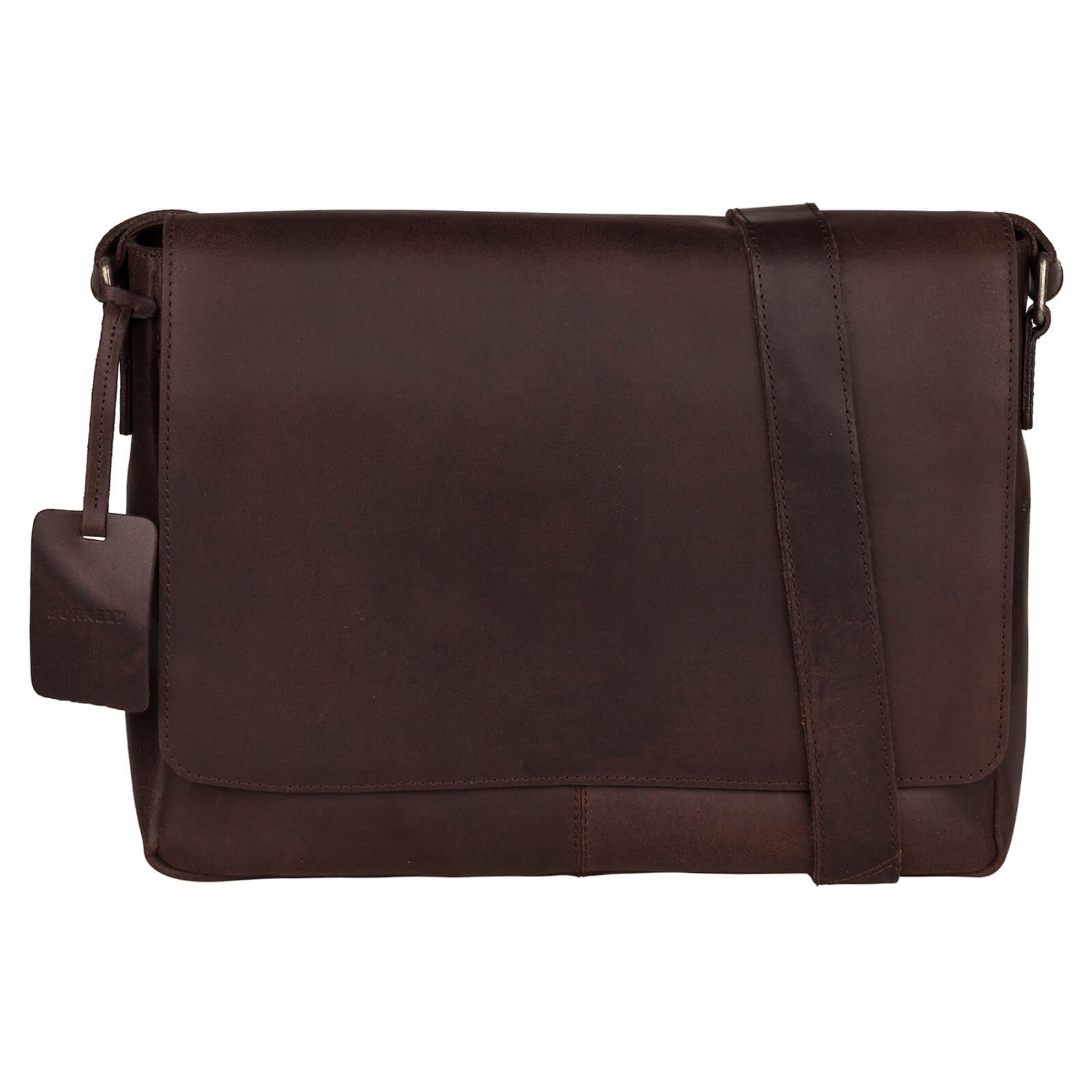 Pánska kožená taška cez rameno Burkely Juul - tmavo hnedá