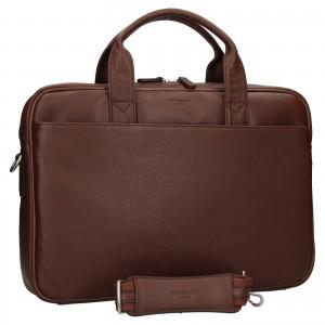 Pánska kožená taška cez rameno Hexagon Tango - koňak