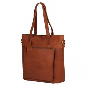 Dámska kožená kabelka Burkely Jade - koňak