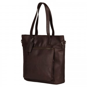 Dámska kožená kabelka Burkely Maria - tmavo hnedá