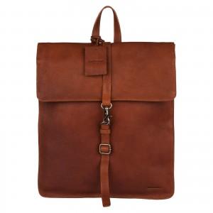 Dámsky kožený batoh Burkely Alma - koňak