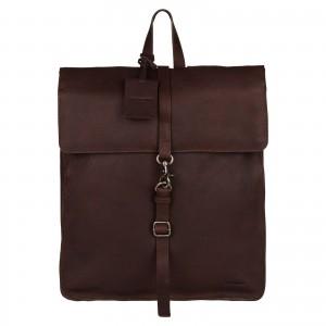 Trendy kožený batoh Burkely Alm - tmavo hnedá