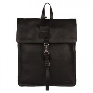 Trendy kožený batoh Burkely Alm - čierna