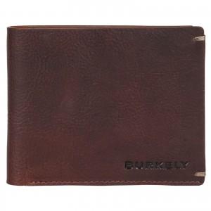 Pánska kožená peňaženka Burkely Neah - tmavo hnedá
