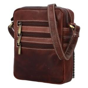 Pánska kožená taška cez rameno Diviley Fion - koňak