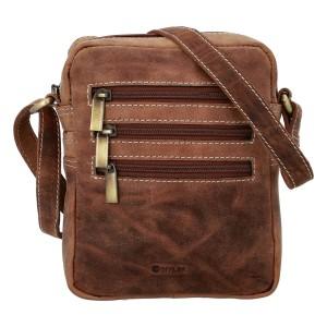 Pánska kožená taška cez rameno Diviley Kley - hnedá