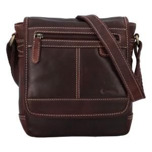 Pánska kožená taška cez rameno Diviley Gustav - hnedá