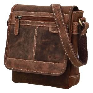 Pánska kožená taška cez rameno Diviley Bredly - koňak