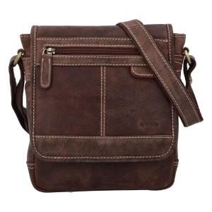 Pánska kožená taška cez rameno Diviley Bredly - hnedá