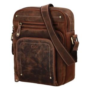 Pánska kožená taška cez rameno Diviley Sedyn - koňak